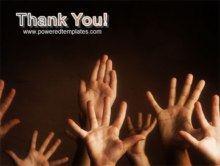 Hands Up PowerPoint Template Slide 20