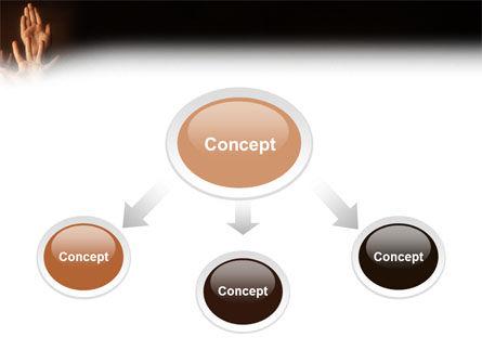 Hands Up PowerPoint Template, Slide 4, 03060, Education & Training — PoweredTemplate.com