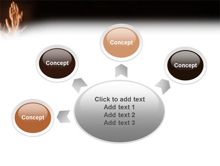 Hands Up PowerPoint Template Slide 7