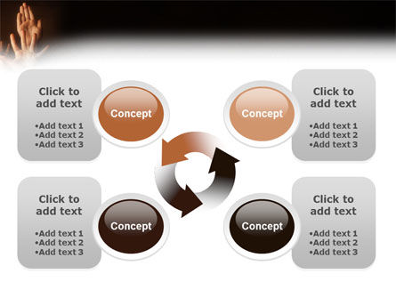 Hands Up PowerPoint Template Slide 9