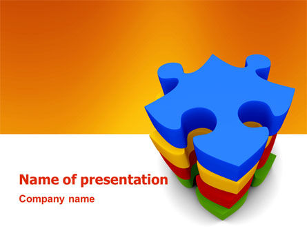 Business Concepts: Puzzle Complete PowerPoint Template #03061