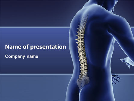 Spine PowerPoint Template, 03062, Medical — PoweredTemplate.com