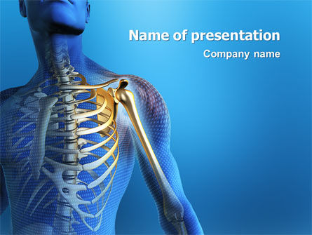 bones powerpoint template, backgrounds | 03063 | poweredtemplate, Modern powerpoint