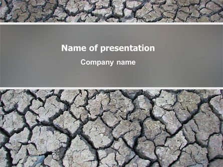 Nature & Environment: Desert Ground PowerPoint Template #03066