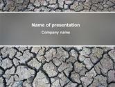 Nature & Environment: Modelo do PowerPoint - terra do deserto #03066