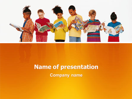 Children's Literature PowerPoint Template, 03068, Education & Training — PoweredTemplate.com