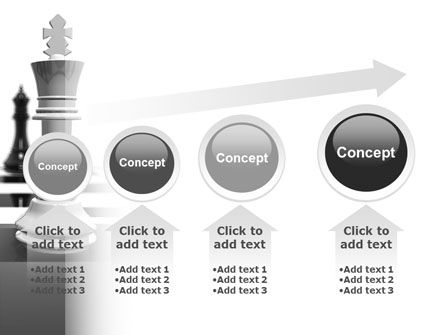 Chess White Begin And Win PowerPoint Template Slide 13