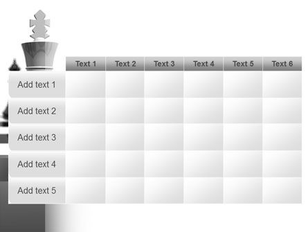Chess White Begin And Win PowerPoint Template Slide 15