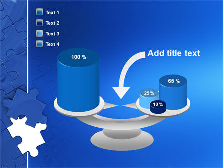Blue Jigsaw PowerPoint Template Slide 10