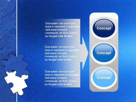 Blue Jigsaw PowerPoint Template Slide 11