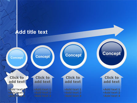 Blue Jigsaw PowerPoint Template Slide 13