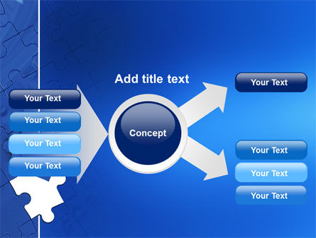 Blue Jigsaw PowerPoint Template Slide 14