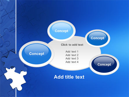 Blue Jigsaw PowerPoint Template Slide 16