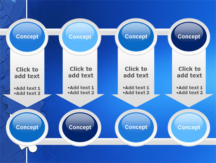 Blue Jigsaw PowerPoint Template Slide 18