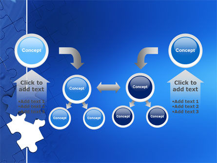 Blue Jigsaw PowerPoint Template Slide 19