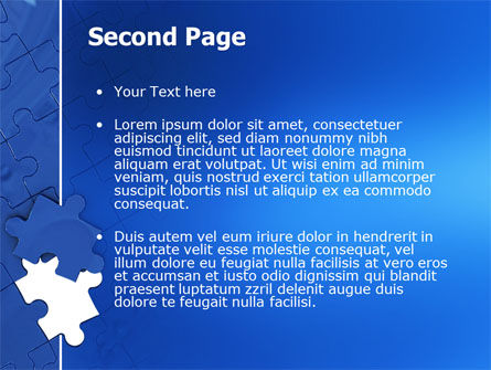 Blue Jigsaw PowerPoint Template Slide 2