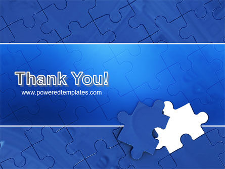 Blue Jigsaw PowerPoint Template Slide 20