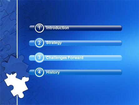 Blue Jigsaw PowerPoint Template, Slide 3, 03070, Business Concepts — PoweredTemplate.com