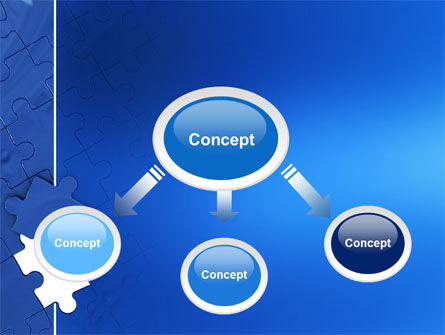 Blue Jigsaw PowerPoint Template Slide 4