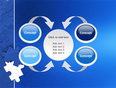 Blue Jigsaw PowerPoint Template Slide 6