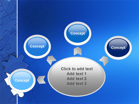Blue Jigsaw PowerPoint Template Slide 7