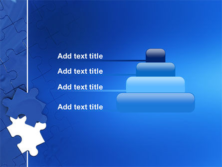 Blue Jigsaw PowerPoint Template Slide 8