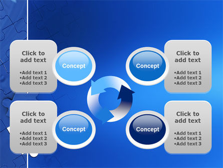 Blue Jigsaw PowerPoint Template Slide 9