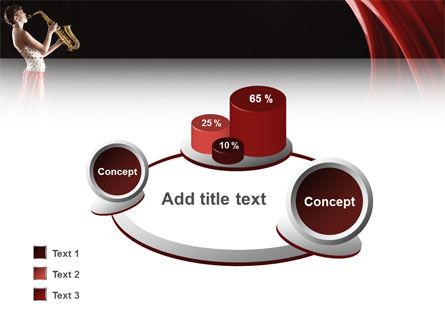 Jazz Saxophone in Girl's Lips PowerPoint Template Slide 16