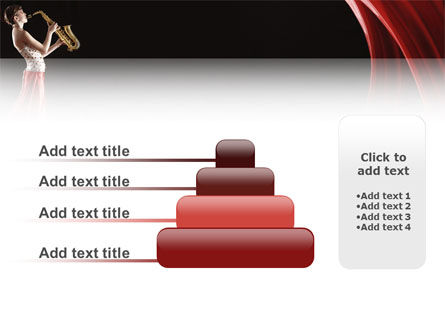 Jazz Saxophone in Girl's Lips PowerPoint Template Slide 8