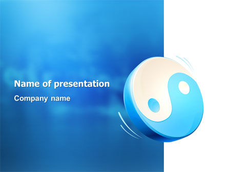 Blue Yin Yang PowerPoint Template