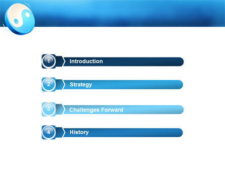 Blue Yin Yang PowerPoint Template Slide 3