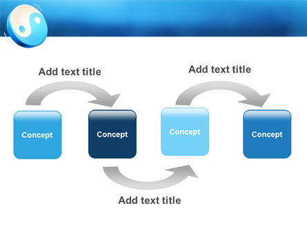 Blue Yin Yang PowerPoint Template Slide 4