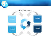 Blue Yin Yang PowerPoint Template#6