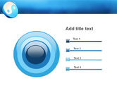 Blue Yin Yang PowerPoint Template#9