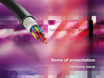 Telecommunication: Copper Cable PowerPoint Template #03074