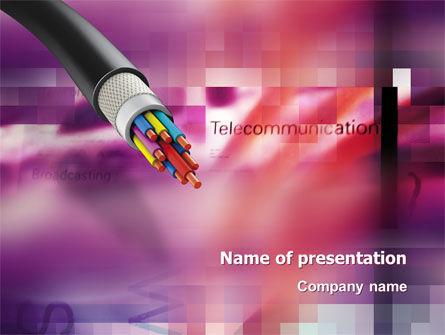 Telecommunication: Koperen Kabel PowerPoint Template #03074
