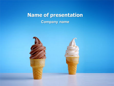 Chocolate And Vanilla Ice Cream PowerPoint Template, 03076, Food & Beverage — PoweredTemplate.com