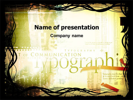 Art & Entertainment: Typography PowerPoint Template #03077
