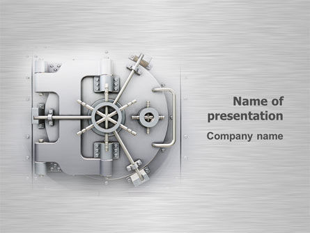 Technology and Science: Bank Safe PowerPoint Template #03078