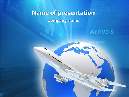 Cars and Transportation: Airway PowerPoint Template #03079