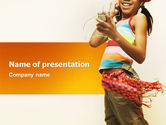Art & Entertainment: Happy Teen PowerPoint Template #03082