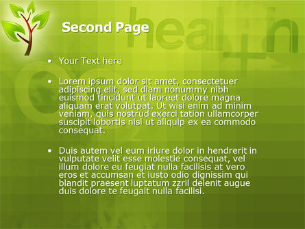 Green Health PowerPoint Template Slide 2