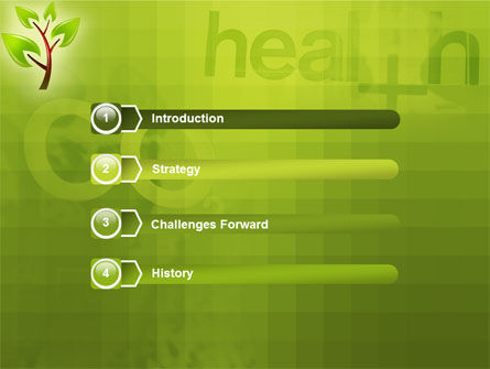 Green Health PowerPoint Template Slide 3