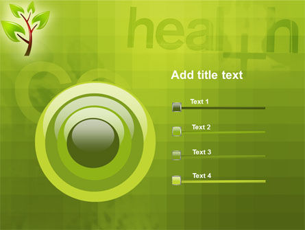 Green Health PowerPoint Template Slide 9