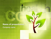 Nature & Environment: Green Health PowerPoint Template #03083