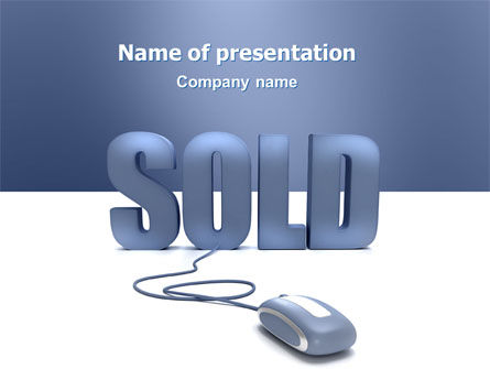 Sold PowerPoint Template, 03085, Technology and Science — PoweredTemplate.com