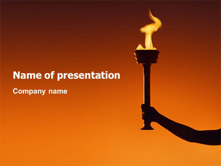 Olympic Torch PowerPoint Template