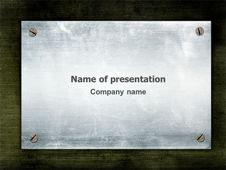 Abstract/Textures: Steel Board PowerPoint Template #03088
