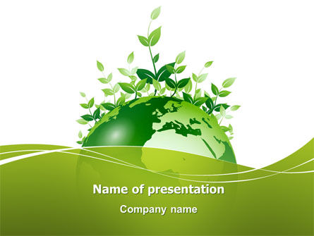 Nature & Environment: Green Environment PowerPoint Template #03091