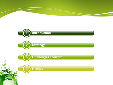 green environment powerpoint template, backgrounds, Powerpoint